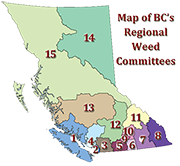 downloadable map of the current regional weed committees